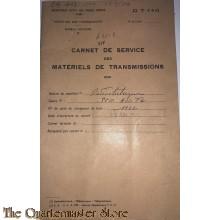 Carnet de Service des Matreriels de Transmission  SCR 300 (1956)