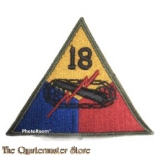 Mouwembleem 18e Armored Divison (Sleevebadge 18th Armored Division)