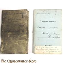Dubbel Oorlogszakboekje 8e Regiment Infanterie III bat 3e Comp