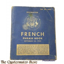 Booklet French phrase 1943 Technical Manual TM30-602
