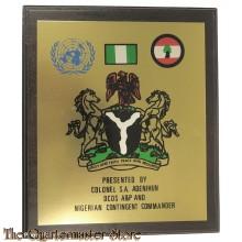 Wandbord UNIFIL Presented by Colonel S.A. Adenihun DCOS A&P abd Nigerian Contigent Commander