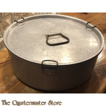 US Army Aluminum Field Mess Pan or Pot w/Lid - S.M. Co. 1944