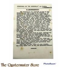 Stencil ¨overgenomen uit Het Ochtendblad vrijdag 8 sept 1944