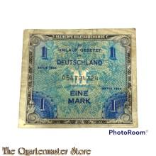 US Army Invasion money 1 Mark 1944