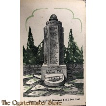 "Prent briefkaart 1940 Rhenen ""de Grebbe"" monument 8 RI mei 1940"