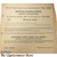 Bonaanwijzing Distributie Amersfoort no 429 3e week 5e per.   29 april t/m 5 mei 1945