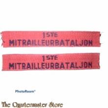 Straatnamen 1e Mitrailleur Bataljon set