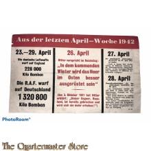 Leaflet / Flugblatt G.24  Aus der letzten April-Woche 1942
