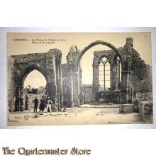 Postcard Varennes ruins of the church