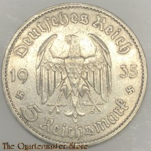 German 5 Mark 1935 silver ( with swastika's)