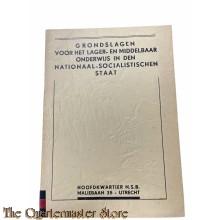 Brochure NSB Grondslag voor het lager- en middelbaar onderwijs in den Nationaal-Socialistischen Staat 1938