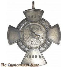 """Medaille 1000m Zweminrichting """"Kromme Rijn"""" 1935"""