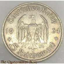 German 5 Mark 1934 silver