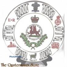 Wandbord the Royal Regiment of Wales 11 june 1969