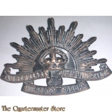 Cap badge Standard WW2 Rising Sun Australian Commonwealth Military Forces