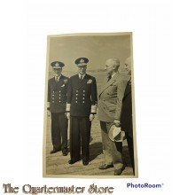 Postcard  His Majesty the King visiting vessel 1945
