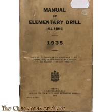 Manual of Elementary drill (all arms) 1935/1940 Canada