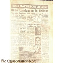 Flugblatt / Leaflet T.206, Nachrichten für die Truppe  (News for the Troops, No. 206)