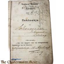 Oorlogszakboekje 1e Regiment Infanterie 5e Batt 3e Comp