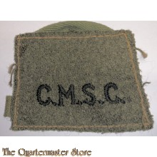 Shoulder title (slip on) Corps of Military Staff Clerks (CMSC)