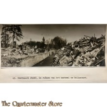 Press photo , WW1 Western front,  remains of the castle  in Calincourt