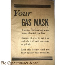 US Manual gasmask Office of Civil Defence WW2