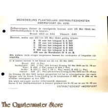 Mededeeling Plaaselijke distributiediensten Amersfoort (Nr. 429)