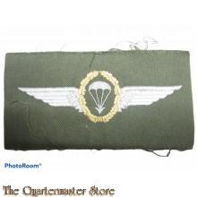Bundeswehr Fallschirmspringerabzeichen BW Gold auf grun
