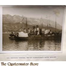Press photo , WW1 Western front,  Schottish trawlers used as uboat hunters