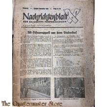 Nachrichtenblatt der SA-gruppe Niedersachsen