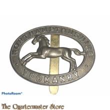 Cap badge Northamptonshire Yeomanry
