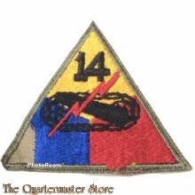 Mouwembleem 14e Armored Division (sleeve badge 14th Armored Division)