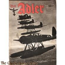 Zeitschrift Der Adler heft 26 ,21 dec  1943  (Magazine Der Adler No 26 21 dec 1943)