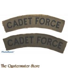 Shoulder flashes Cadet Force (canvas)