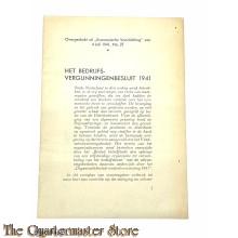 Het bedrijfsvergunningen besluit 1941
