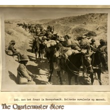Press photo , front of Mesopotamia,, British cavalry marching