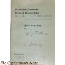 Feuerwehr pass und Sani Personsausweiss Lieberose Brandenburg