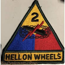 Sleeve badge 2nd Armored Division (Hell on Wheels)