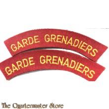 Straatnamen Garde Grenadiers (gebogen)