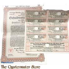 Schuldverschreibung , Anleihe des deutschen Reiches 1938