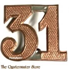 Sjako nummer 31e Regiment Infanterie 1912-1916