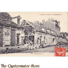 AnsichtKaart (Mil. Postcard) Compiegne apres le Bombardement 1917