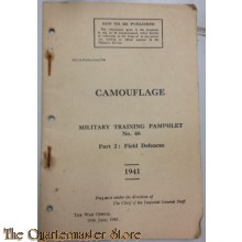 Mil training pamphlet Camouflage no 46