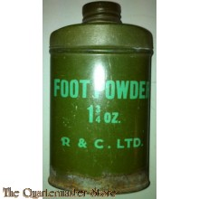 Tin footpowder groen