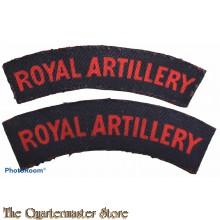 Shoulder flashes Royal Artillery Regiment (canvas)