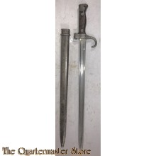 Sword bayonet (M189/05) for the 8 mm. Mannlicher-Berthier M1890 Carabine de Cavalerie (cavalry carbine); and, M1892 and M1916 Mousqueton de Artillerie (artillery carbine).