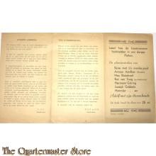 Brochure Leest hoe  de beestmensen huishielden in ons dorpje Putte Mei 1945