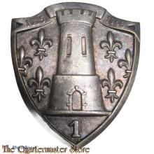 France - Insigne 1° Cuir Regiment de Cuirassiers 1835-1940