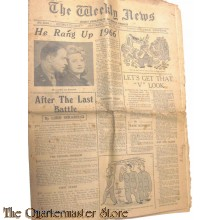 Newspaper, The Weekly News, no 4690 saturday 21 april 1945