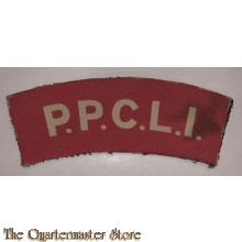 Shoulder title Princes Patricia's Canadian Light Infantry P.P.C.L.I. 1st Canadian Armoured Division (canvas)